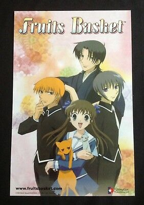 Fruits Basket Furuba 17x11 Inch 2003 Promo Poster FUNimation Anime Kyo Shigure Y