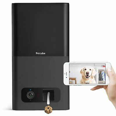 LC50 Petcube Bites Pet Camera with Treat Dispenser HD1080p Video Camera Black