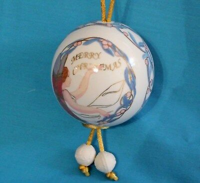 Lladro Angelic Wishes Porcelain Ball Christmas Ornament 2003 Box