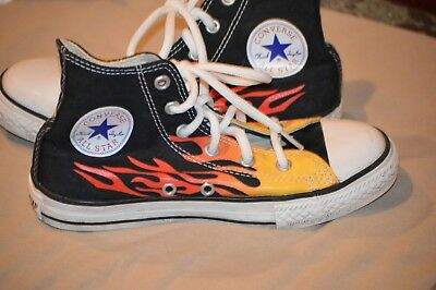 df2b9f505ec Vintage Converse All Star Chuck Taylor Hot Rod Flame High Tops youth Size  1.5