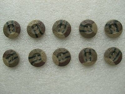 07's series China PLA Army Desert Camouflage Resin Buttons,10 Pcs,20mm