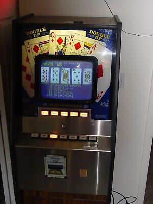 Double Up Poker Machine with Hi/Low by Omega Products accepts coins and bills