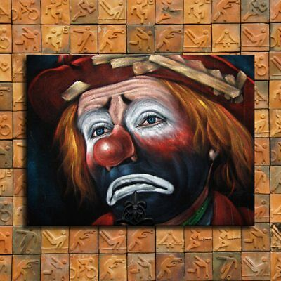 "12""x16""Sad clown poster Painting HD Print Canva Home Decor Room Wall Art Picture"