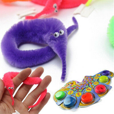 1PC Amazing Magic Trick Twisty Fuzzy Worm Wiggle Moving Sea Horse Kids Toy HT