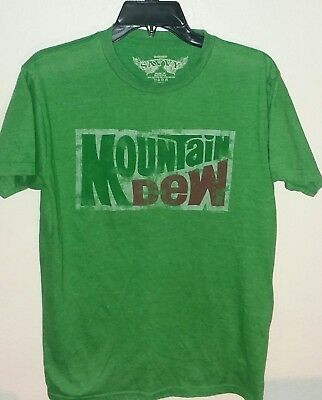 Light Green Mountain Dew Classic Logo by Pepsi Co Distressed Thin Light Tee