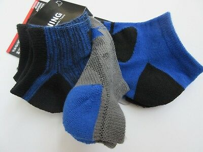 Under Armour Training Socks Blue & Gray No Show 3 Pair Youth Large (1-4) - NWT