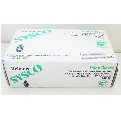 Non Medical, PF, Latex gloves X-Large - Case of 10 Bx/100