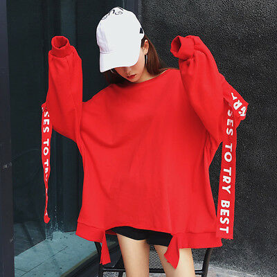 Autumn Korean Hooded Long Sleeve Sweater Women 's Clothes Loose Hoodies Top Plus
