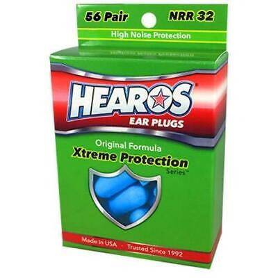 New Hearos Original Formulation Xtreme Protection Ear Plugs (NRR 33) (56 pairs)
