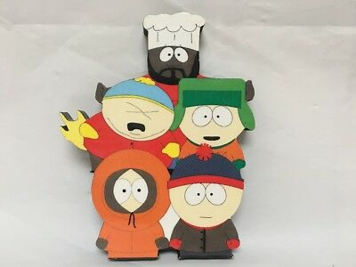 South Park Magnet Wooden Legends Of The Wall Plaque Magnet 1997 EUC
