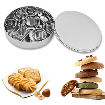 24pcs/set Stainless Steel Fruit Cookie Cake Biscuit Dough Cutter Mold Baking