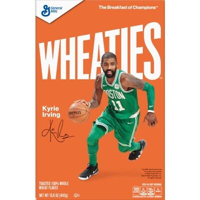Case of (7) Wheaties Movie UNCLE DREW KYRIE IRVING Breakfast Cereal 15.6 oz Box