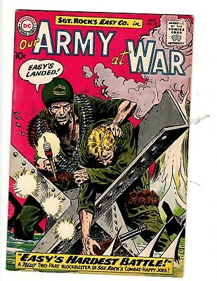 OUR ARMY AT WAR #99 DC OCTOBER 1960 As Found.Ungraded