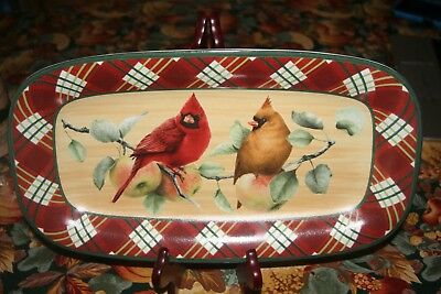 "Lenox ""Winter Greetings Everyday""  Hors D'Oeurve Tray 14 1/4 "" X 7 3/4 "" X 1"""