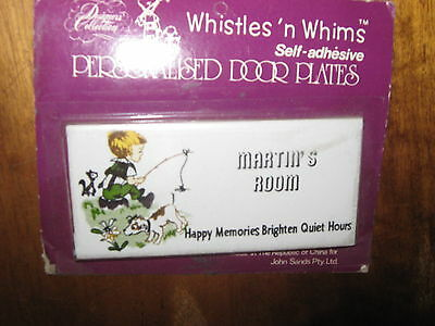 VintageWhistles' n Whims Porcelain Personalised Door Plate MARTIN's ROOM