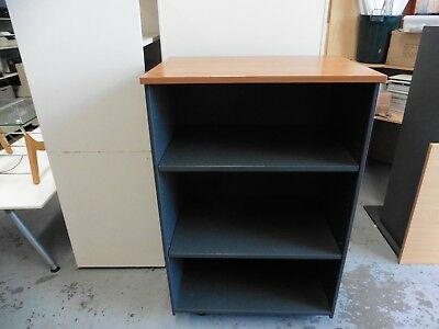Office 1300Mm Cherry / Ironstone Bookcase Brisbane