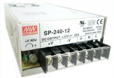 NEW Mean Well SP-240-12 AC/DC Power Supply Single-OUT 12V 20A 240W
