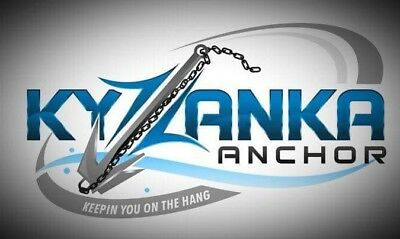 """STAINLESS STEEL 316 """"KYZANKA"""" Reef Anchor, 450mm Shaft For Boats 5m+ Aus Made"""