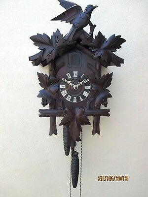 "Old Antique Black Forest "" Cuckoo "" Clock, circa 1890s,"
