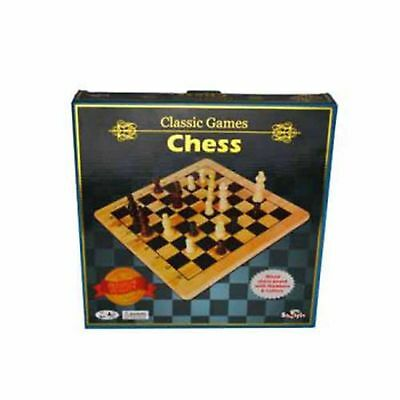 Kids Shuffle Classic Wooden Chess Board Travel Family Game Set For Children