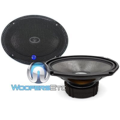 "CDT AUDIO HD-690CF 6""x9"" CARBON FIBERCARSUBWOOFERMIDWOOFER SPEAKERSPAIR 1"