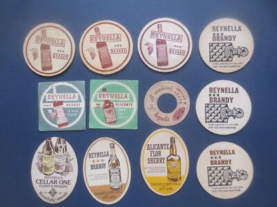 12 different REYNELLA Wines 1960,s - 70,s Issued  Advertising COASTERS