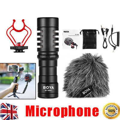 BOYA BY-MM1 Cardiod Video Microphone Mic Video for iPhone Samsung Camera 3.5mm