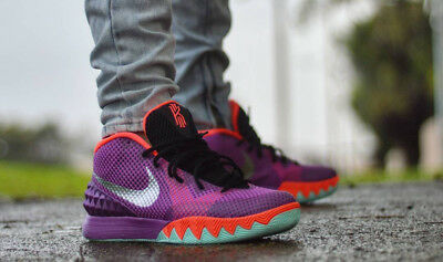 2d1e46aac571 NIKE KYRIE IRVING 1 Easter 705277 508 Mens Size 12 Hot Lava Purple ...