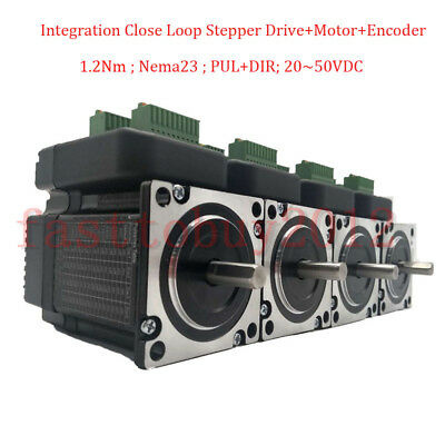 1-4PC Close Loop Nema23 1.2NM Hybrid Stepper Servo Integration Motor+Drive 36VDC