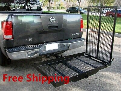 Foldable Electric Wheelchair Hitch Carrier Mobility Scooter Folding Loading Ramp