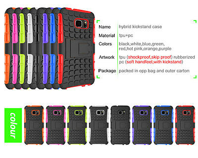 OEM Shockproof Hybrid Rubber Hard Rugged Armor Stand Case Cover Samsung Galaxy