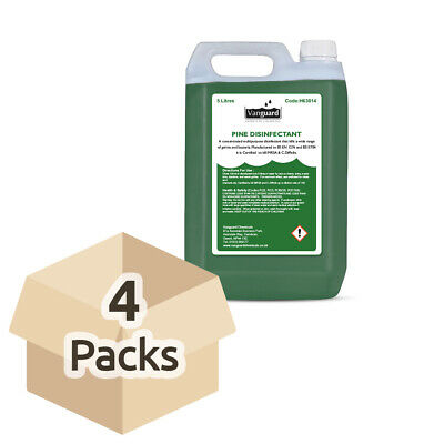 Vanguard Disinfectant - Pine Scented - 5 Litres - Case - 4 Bottles