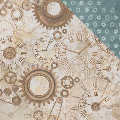 "Kaisercraft Factory 42 12x12"" Scrapbooking Paper Gears & Cogs ~ Father's Day"