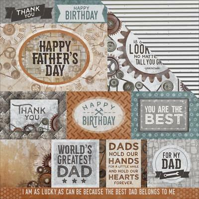 "Kaisercraft Factory 42 12x12"" Scrapbooking Paper Workshop ~ Father's Day"