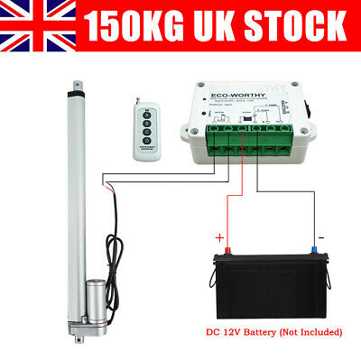 Linear Actuator DC12V 1500N Linear Motor Electric Auto Lift Controller UK Seller