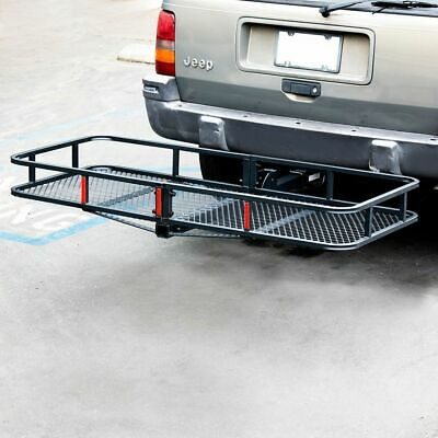 """60"""" Folding Truck SUV Car Cargo Basket Luggage Carrier Rack 2"""" Hitch Receiver"""