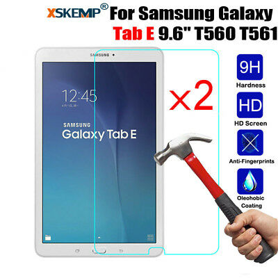 """2Pcs Tempered Glass Screen Protector For Samsung Galaxy Tab E 9.6"""" SM-T560 /T561"""