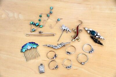 Mixed Lot of Vintage / Antique Jewellery Some Silver / Rolled Gold