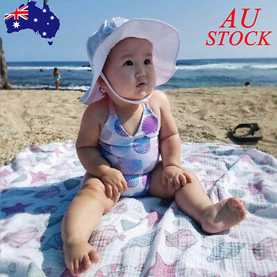 AU Baby Girls Swimsuit Kids Jumpsuit Bodysuit Swimwear Toddler Bathing Suit Set