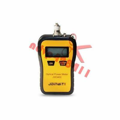 New JW3402A Portable Fiber Optic Power Meter Optical Tester SC/FC/ST Adapter