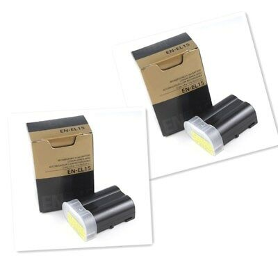 2 x EN-EL15 New Batteries For Nikon MB-D11 MB-D12 D7000 D800 D800E V1 D600