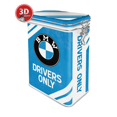 31111 Caja metalica con clip bmw drivers only nostalgic art coolvintage