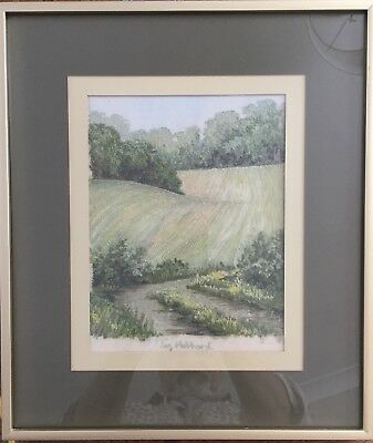 Original Thread Painting by Liz Hubbard - Overture to Summer - & book