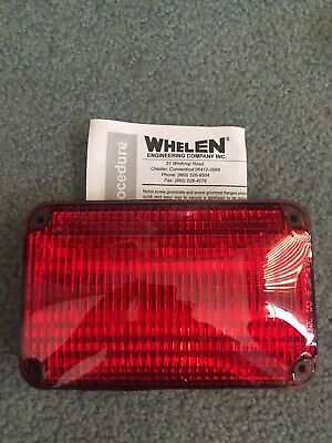 NEW Whelen 600 series RED SmartLED - Super LED #60R02FRD Wide angle.