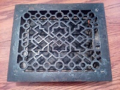 Antique Cast Iron Louvered Heat Floor Grate 11 1/4 X 9 1/2