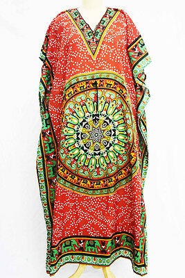 8d2d45e491 Women s Caftan Dress Kaftan dashiki Hippie Boho Maxi Gown Beach Cover Plus  Size