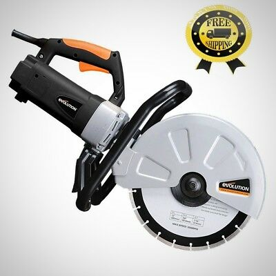 15 Amp 12 Inched Corded Portable Concrete Saw Power Tool Electric Motor New