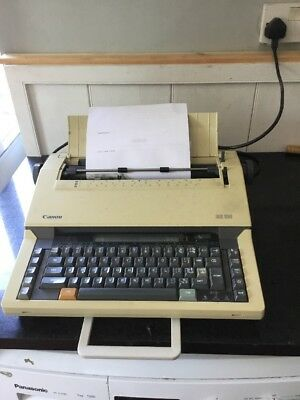 Canon ES 25 Electric Typewriter - Portable - Good  Condition - Free UK Delivery