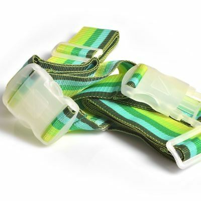 Travel Blue Multi-Green Adjustable Crossed Luggage Strap Belt for Suitcases