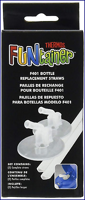 Thermos Replacement Straws For 12 OZ Funtainer Bottle Clear